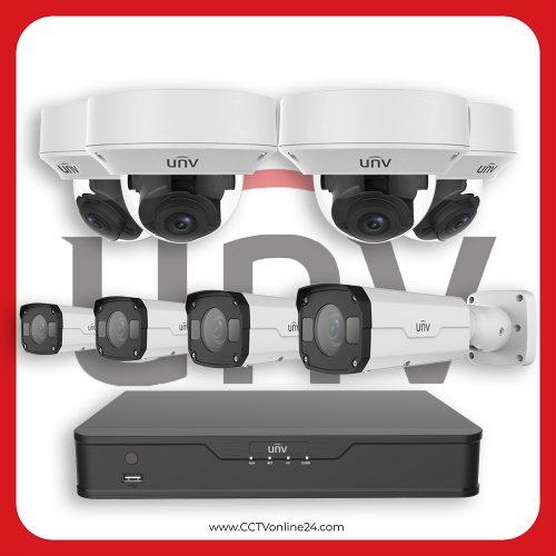 Paket CCTV Uniview IP 4MP Varifocal 8CH
