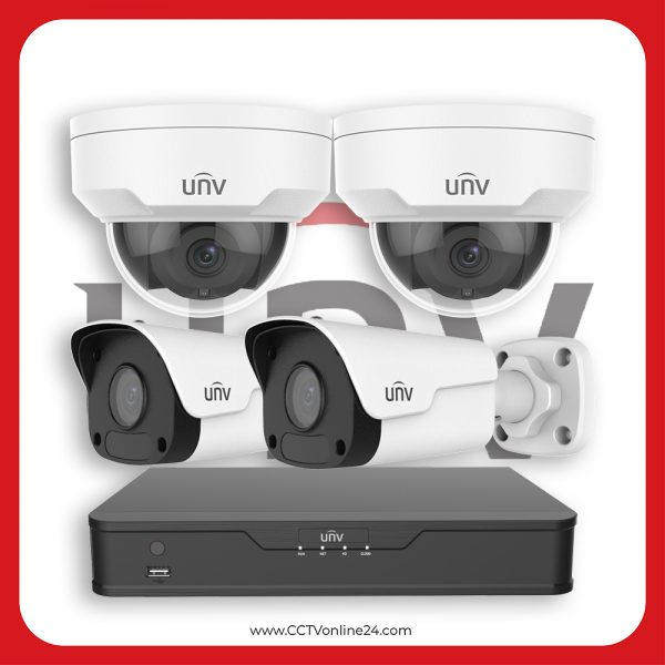Paket CCTV Uniview IP 5MP Fixed 4CH