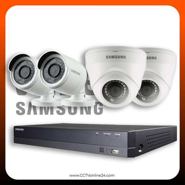 Paket CCTV Wisenet 2MP Lite Fixed 4CH