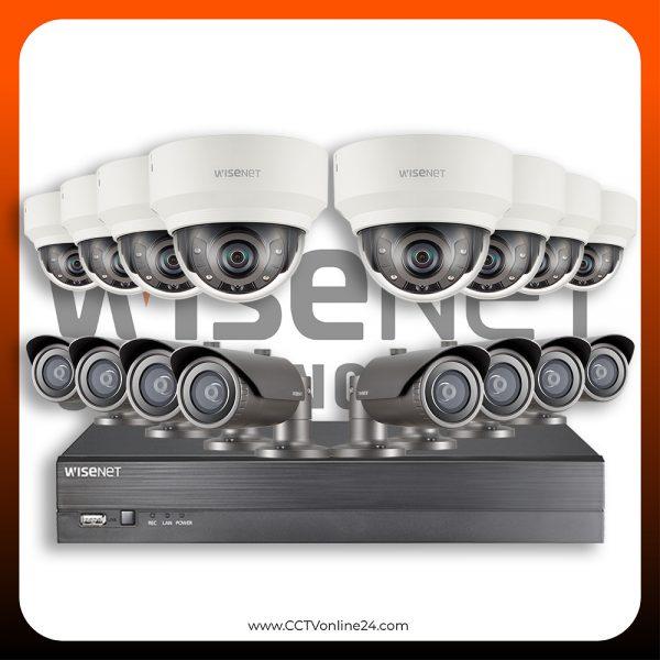 Paket CCTV Wisenet IP 2MP Fixed 16CH