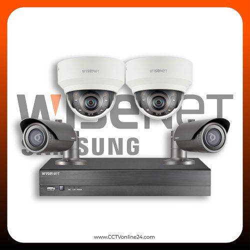 Paket CCTV Wisenet IP 2MP Fixed 4CH
