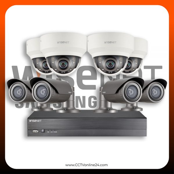 Paket CCTV Wisenet IP 2MP Fixed 8CH