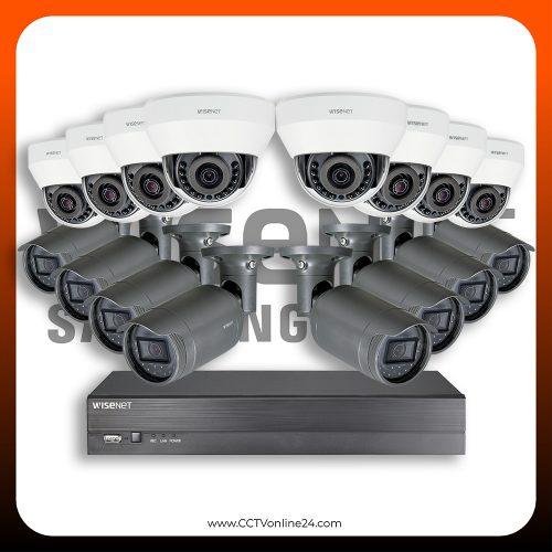 Paket CCTV Wisenet IP 2MP Lite Fixed 16CH