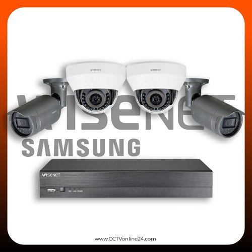 Paket CCTV Wisenet IP 2MP Lite Fixed 4CH