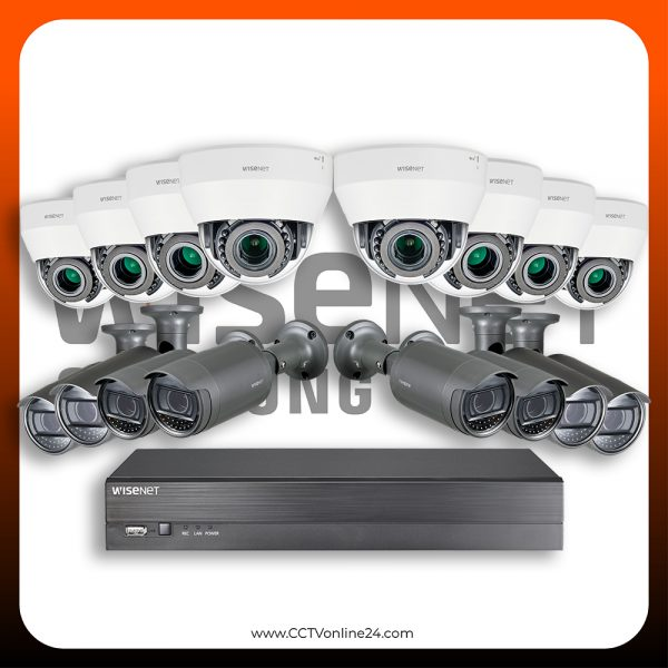 Paket CCTV Wisenet IP 2MP Lite Varifocal 16CH