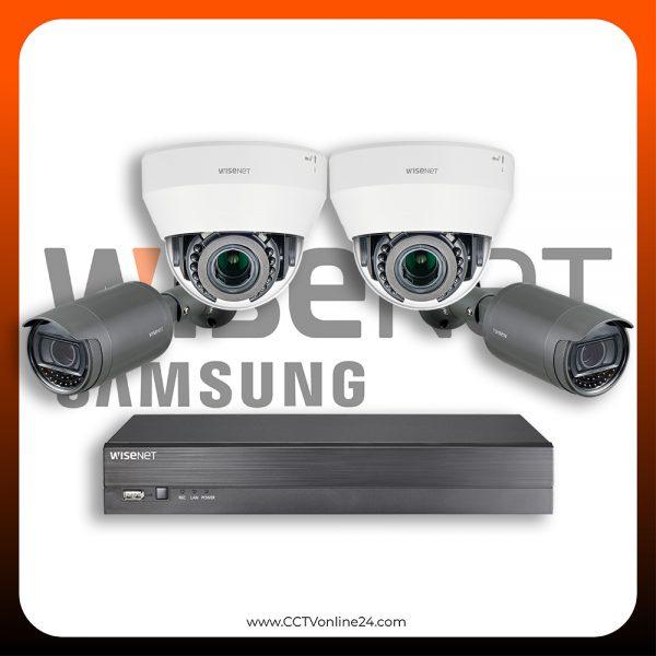 Paket CCTV Wisenet IP 2MP Lite Varifocal 4CH