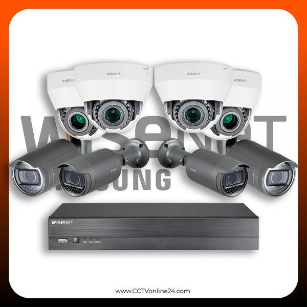 Paket CCTV Wisenet IP 2MP Lite Varifocal 8CH