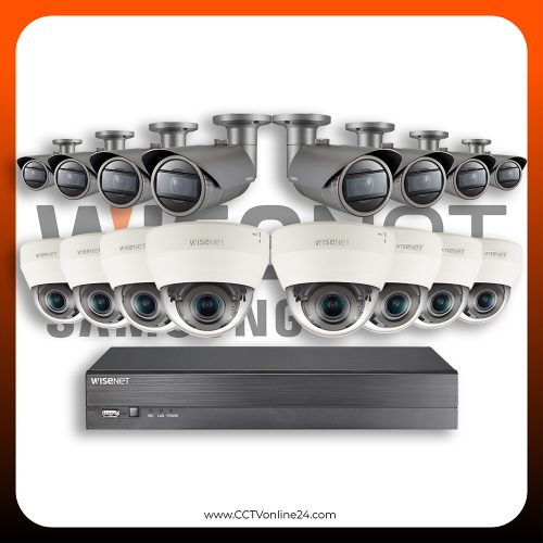 Paket CCTV Wisenet IP 2MP Varifocal 16CH