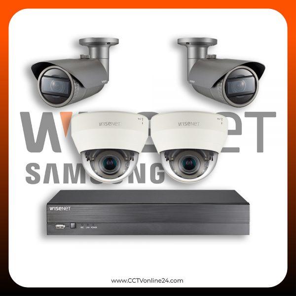 Paket CCTV Wisenet IP 2MP Varifocal 4CH