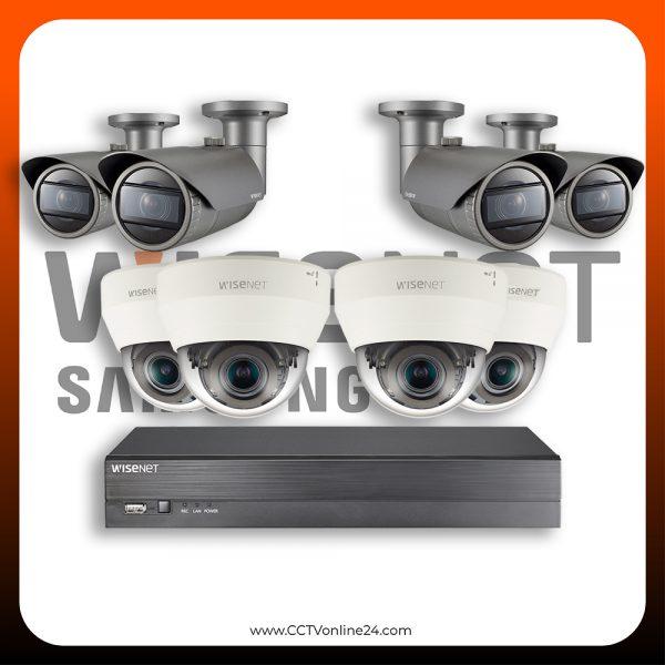 Paket CCTV Wisenet IP 2MP Varifocal 8CH