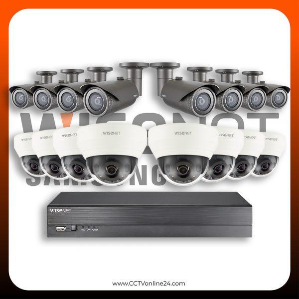 Paket CCTV Wisenet IP 4MP Fixed 16CH