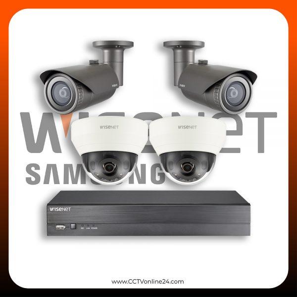 Paket CCTV Wisenet IP 4MP Fixed 4CH