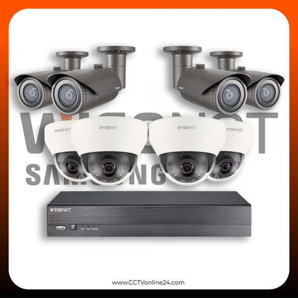 Paket CCTV Wisenet IP 4MP Fixed 8CH