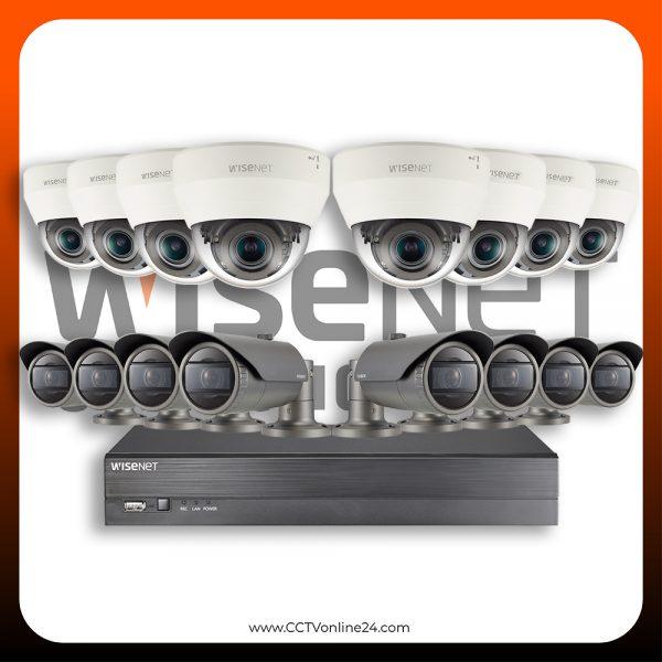 Paket CCTV Wisenet IP 4MP Varifocal 16CH