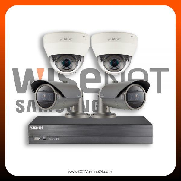 Paket CCTV Wisenet IP 4MP Varifocal 4CH