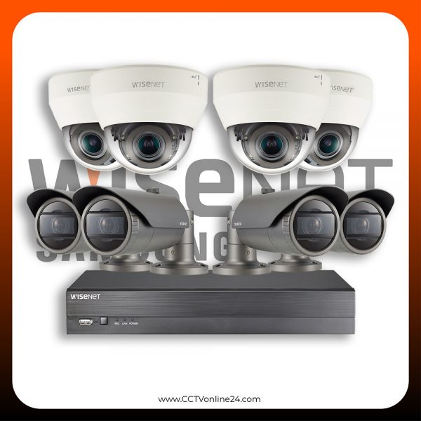 Paket CCTV Wisenet IP 4MP Varifocal 8CH